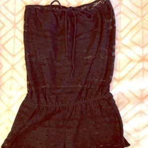 VS Pink Black Lace Swim Suit Cover Up